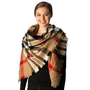 Tigerstars Plaid Square Blanket Scarf Shawl Wrap